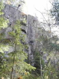 Kalliolasketumista Riuttavuorella